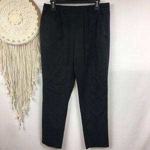 Zara Trafaluc collection hi rise Black Ankle Pants